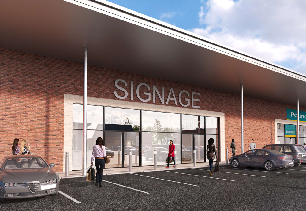 The Mall Shopping Centre, Armagh 3d Aeriel Retail Units